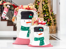 Santa Bags with Snowman Felt Applique