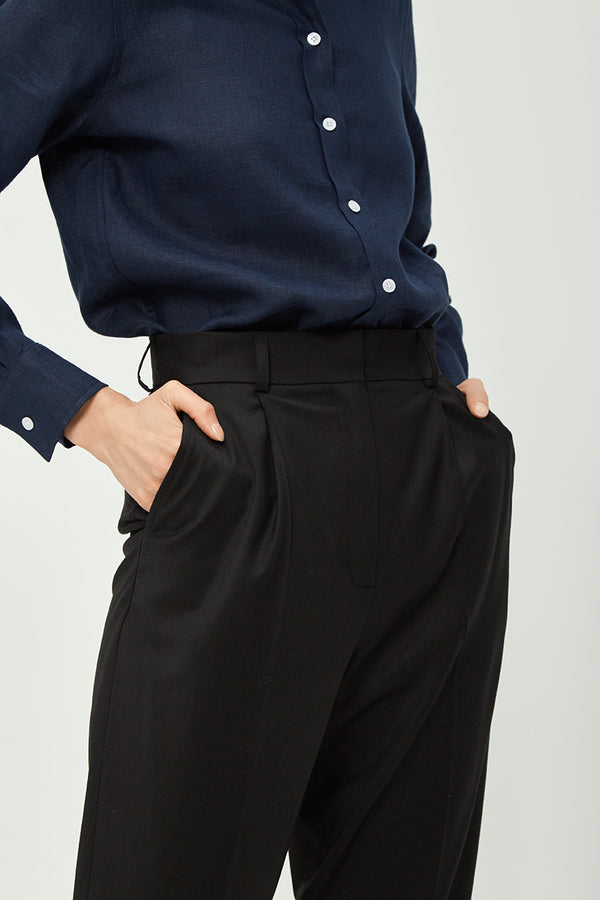 Black Wool Suit Pants | Effortless High Quality Clothing