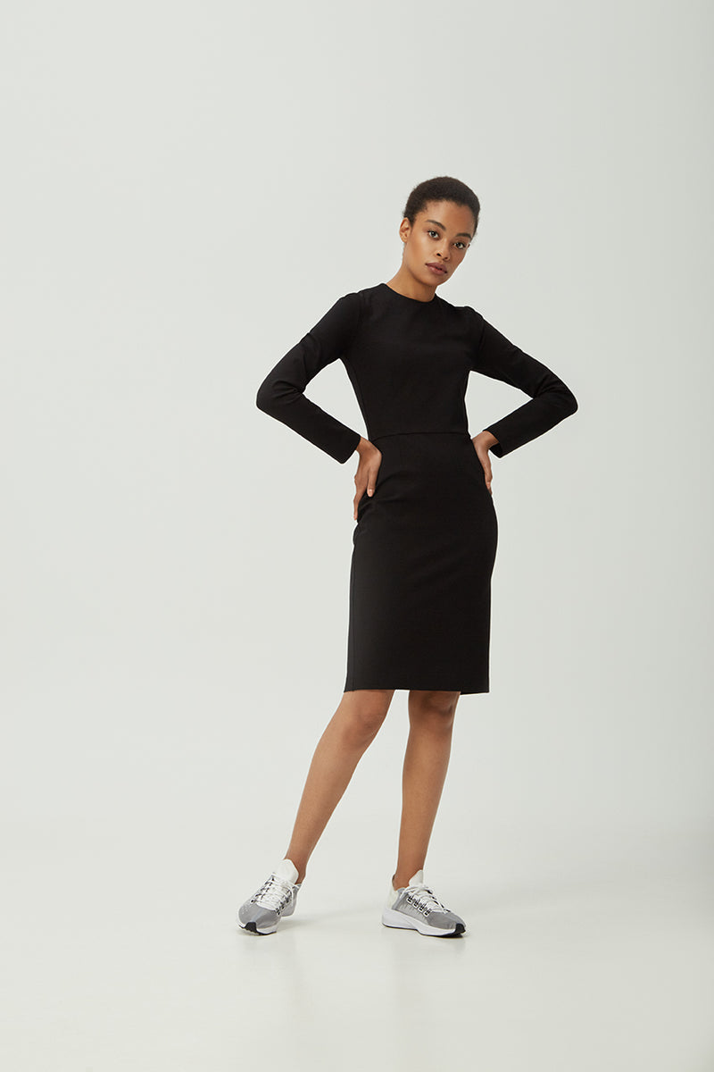 Black Sheath Dress | Effortless High Quality Clothing