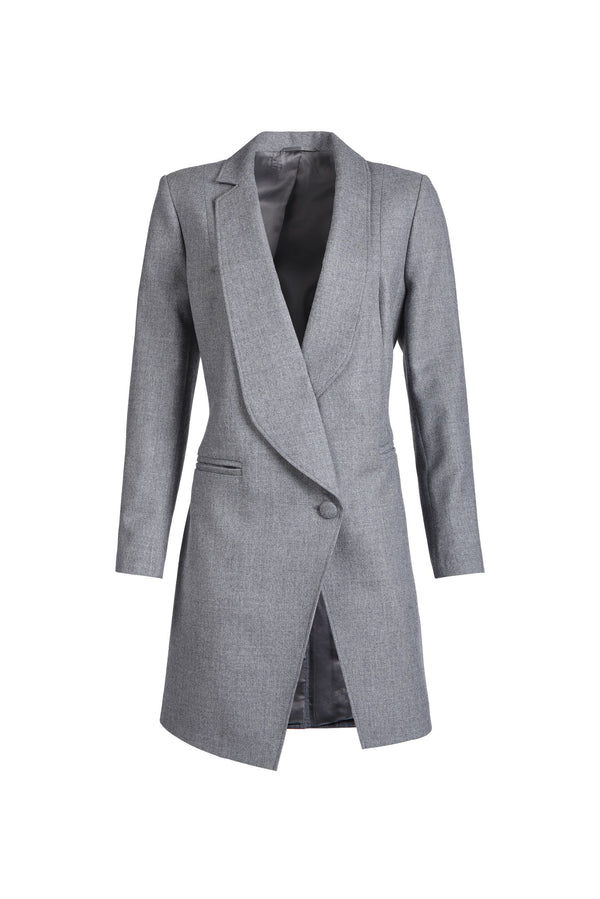 The Asymmetric Coat Grey