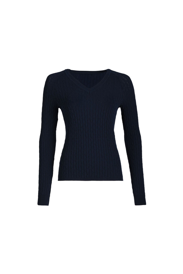 Blue Navy Braid Sweater