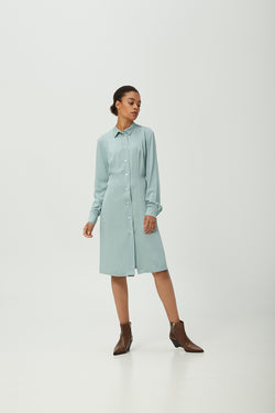 Turquoise Shirt Dress
