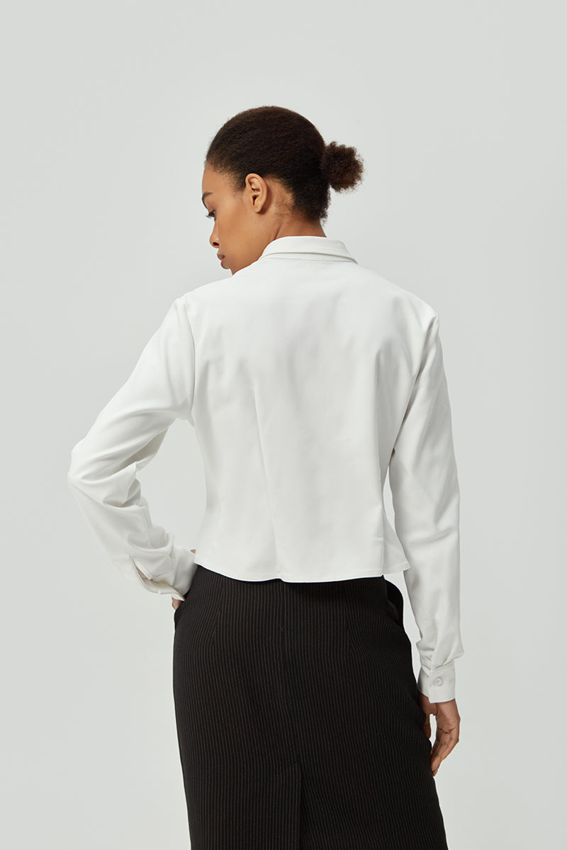 Classic Cotton  White Shirt | Effortless High Quality Clothing by Esyvte
