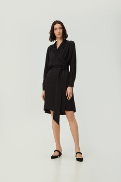 Black Wrap Dress | Effortless High Quality Clothing