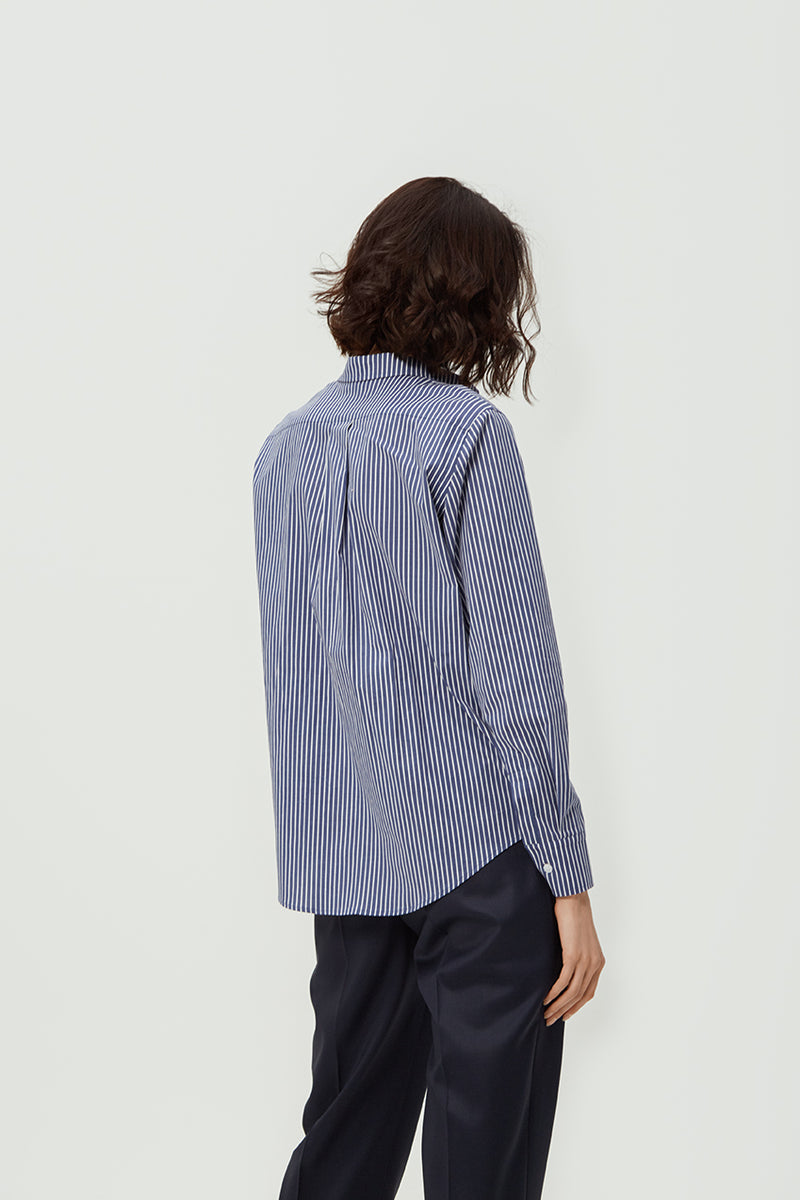 Blue Striped Classic Shirt | Effortless High Quality Clothing