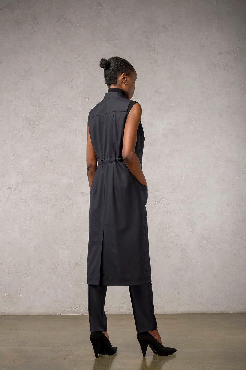 Sleeveless Overcoat