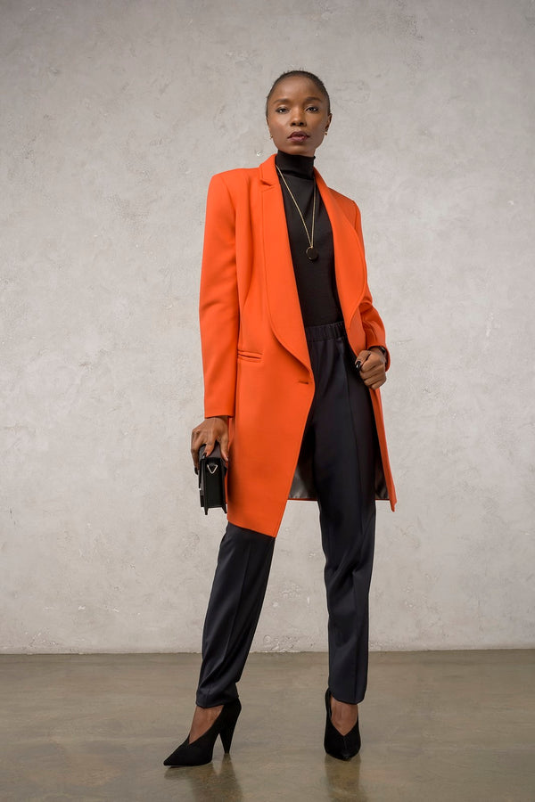 The Asymmetric Orange Coat