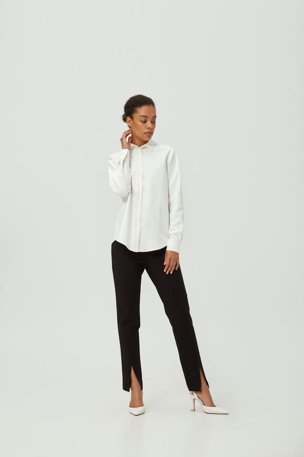 Open Cut Black Suit Pants | Effortless High Quality Clothing by Esyvte