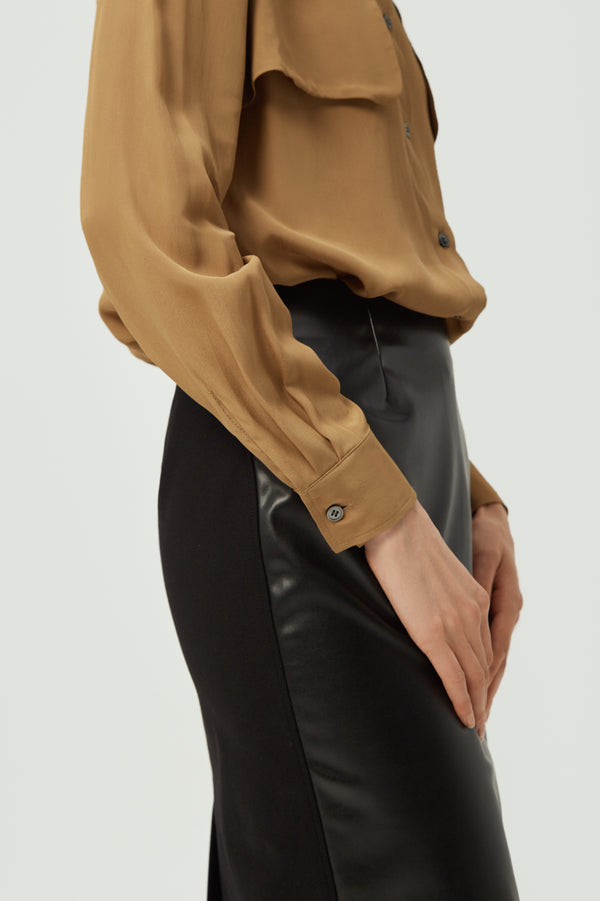 oak Silk Lapel Shirt | Effortless High Quality Clothing by Esyvte
