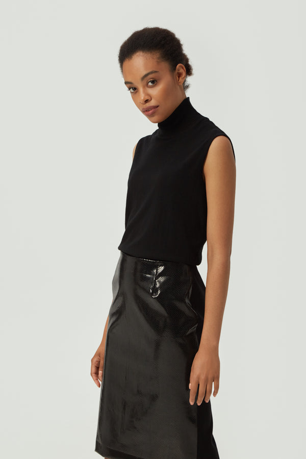 Snake Pencil Skirt in Black
