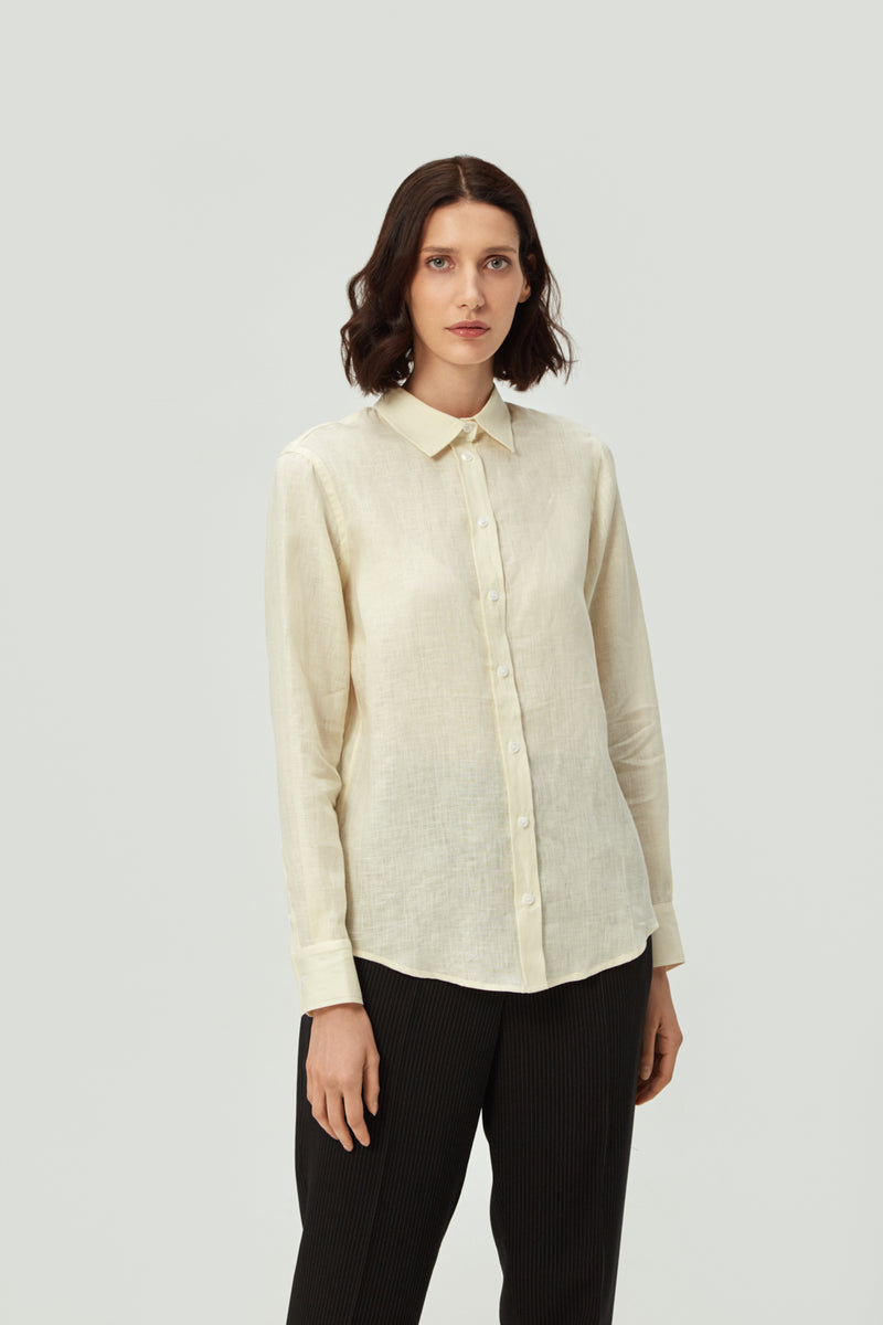 Classic Beige Linen Shirt | Effortless High Quality Clothing