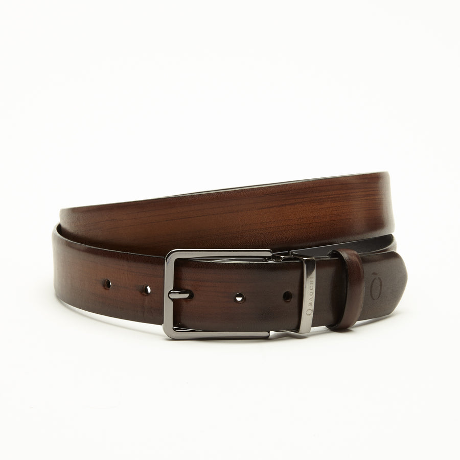 BROWN CRUST WAXED FINISHED BELT