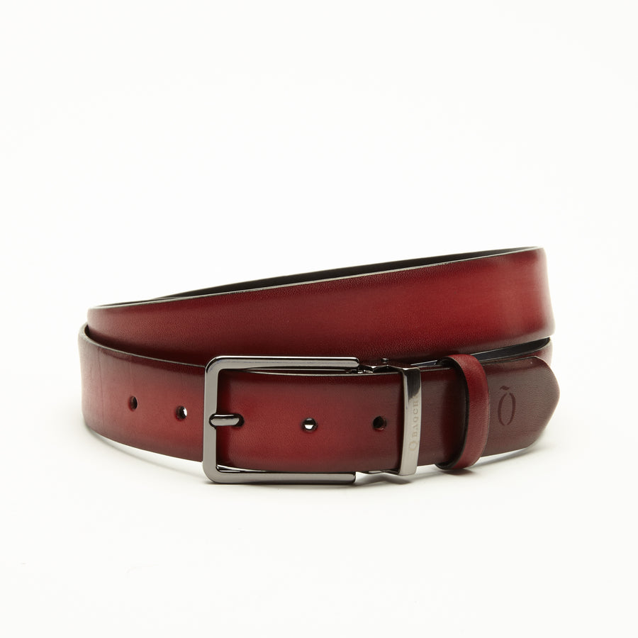 RED CRUST WAXED FINISHED BELT