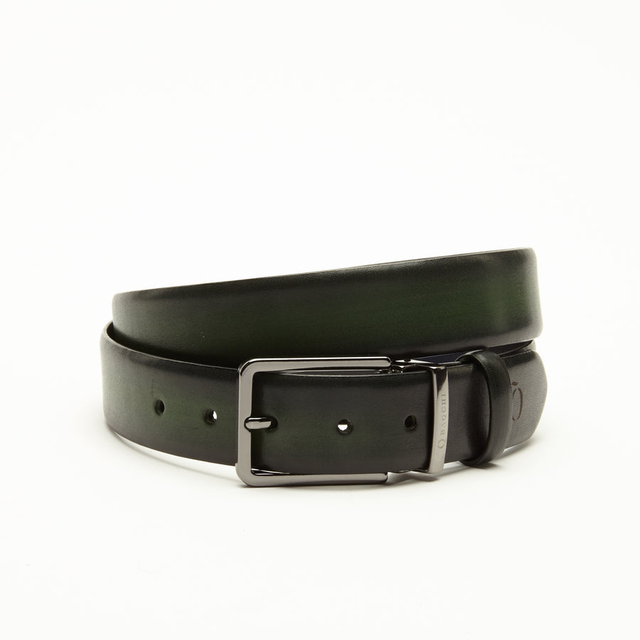 GREEN WAXED FINISHED CRUST BELT