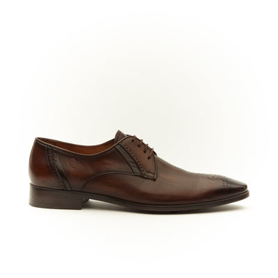BROWN CRUST BROGUING OXFORD SHOE
