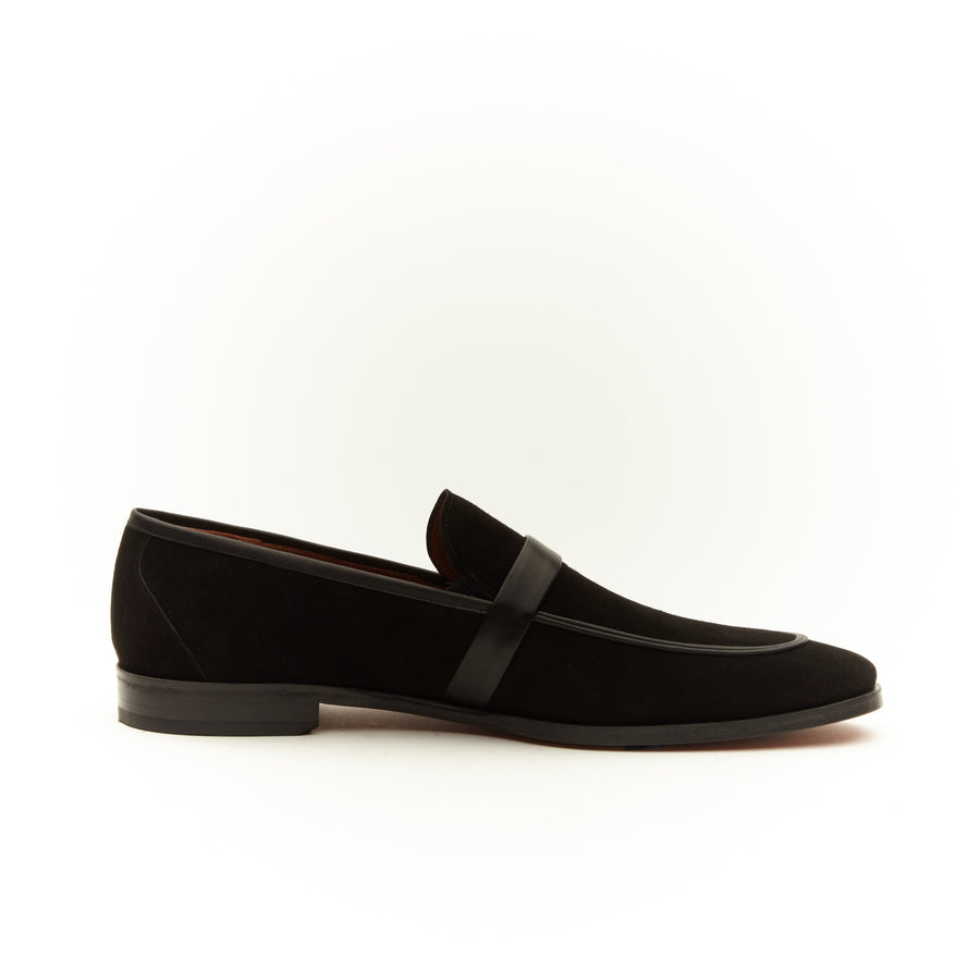 BLACK SUEDE HORSEBIT LOAFERS