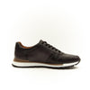 BLACK LEATHER LOW TOP SNEAKER SHOE