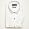 SLIM FIT LONG SLEEVE WHITE OSLO COTTON SHIRT