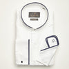 SLIM FIT LONG SLEEVE WHITE SHAOLIN COTTON SHIRT