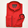 SLIM FIT LONG SLEEVE RED PARIS COTTON SHIRT