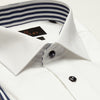 SLIM FIT LONG SLEEVE WHITE SEOUL COTTON SHIRT