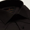 SLIM FIT LONG SLEEVE BLACK SIENA COTTON SHIRT