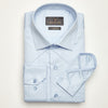 SLIM FIT LONG SLEEVE LIGHT BLUE GENOA TRIESTE COTTON SHIRT