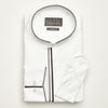 SLIM FIT LONG SLEEVE WHITE BEIJING COTTON SHIRT