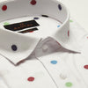 SLIM FIT LONG SLEEVE POLKA DOTTED SOUTHAMPTON COTTON SHIRT