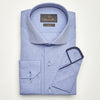 SLIM FIT LONG SLEEVE BLUE VIENNA COTTON SHIRT