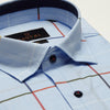 SLIM FIT LONG SLEEVE LIGHT BLUE SEVILLE COTTON SHIRT
