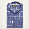 SLIM FIT LONG SLEEVE BLUE PRINTED HOUSTON COTTON SHIRT