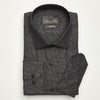 SLIM FIT LONG SLEEVE BLACK PRINTED NEW YORK COTTON SHIRT