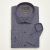 SLIM FIT LONG SLEEVE NAVY SACRAMENTO COTTON SHIRT