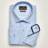 SLIM FIT LONG SLEEVE BLUE ISTANBUL COTTON SHIRT