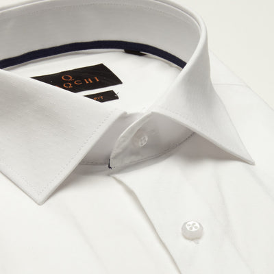 SLIM FIT LONG SLEEVE WHITE ST.PETTERSBURG COTTON SHIRT