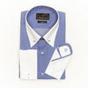 SLIM FIT LONG SLEEVE BLUE GINGHAM PRINT SAN DIEGO COTTON SHIRT