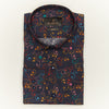 SLIM FIT LONG SLEEVE MULTI COLORED PRINTED MIAMI BEACH COTTON SHIRT