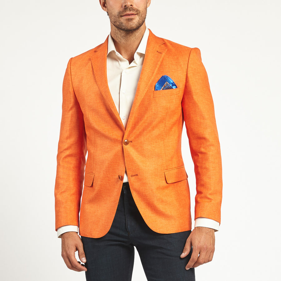 ORANGE TWO BUTTON SUIT JACKET