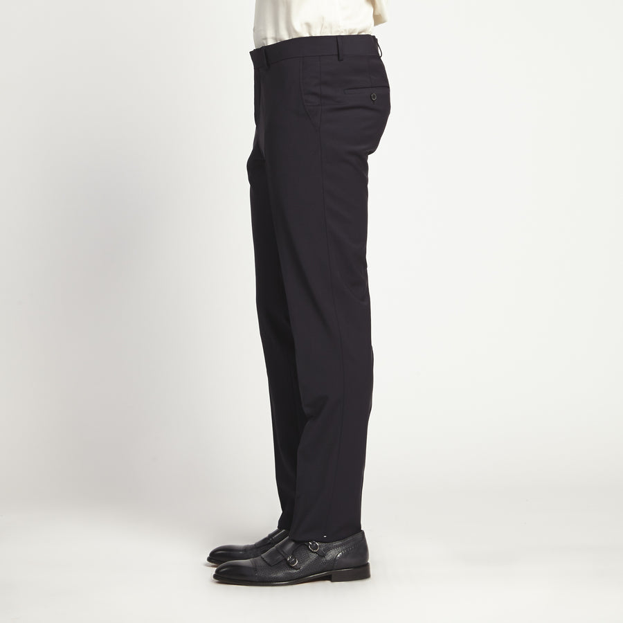 SLIM FIT SLEEK BLACK DRESS PANT