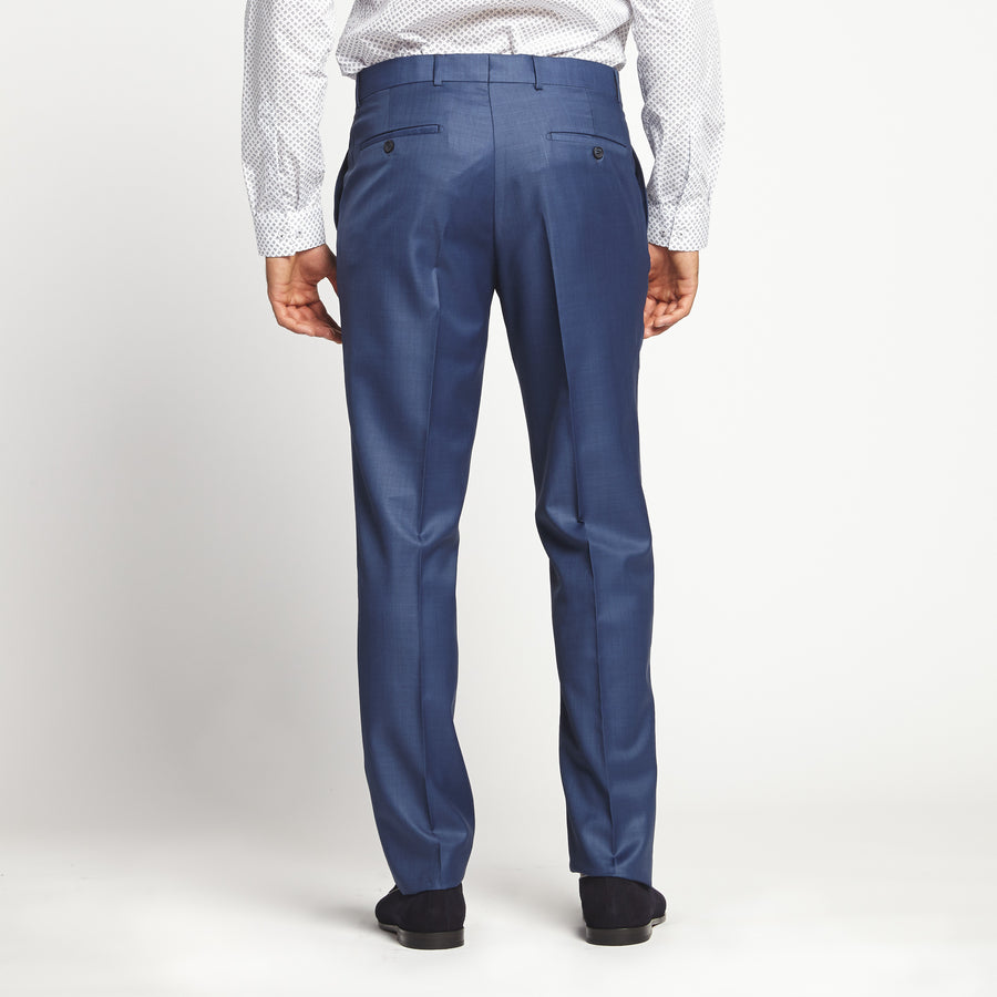 STRAIGHT FIT SLEEK NAVY DRESS PANT