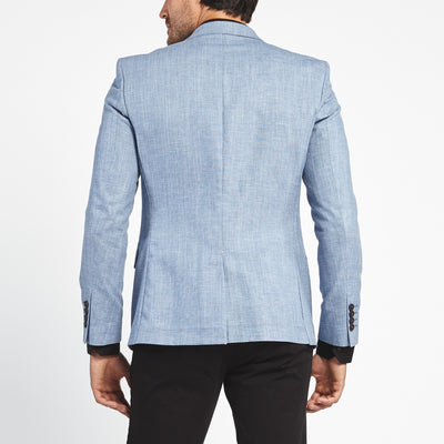 SKY BLUE TWO BUTTON SUIT JACKET