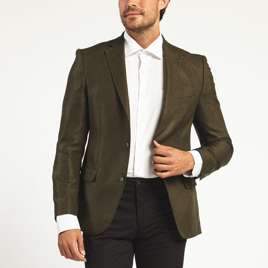 GREEN TWO BUTTON SUIT JACEKT