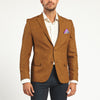 BROWN TWO BUTTON SUIT JACKET