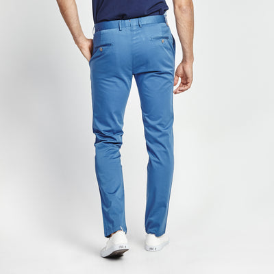 SKINNY FIT CASUAL BLUE POCKET PANT