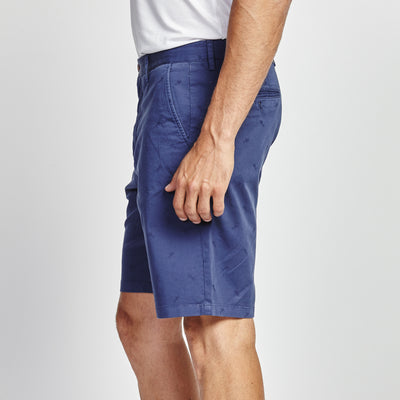 CLASSIC FIT NAVY BLUE SHARK PRINT SHORT
