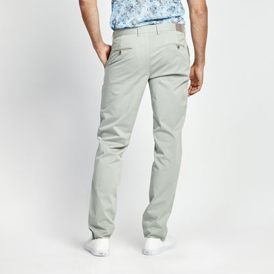 SKINNY FIT CASUAL GREEN POCKET PANT