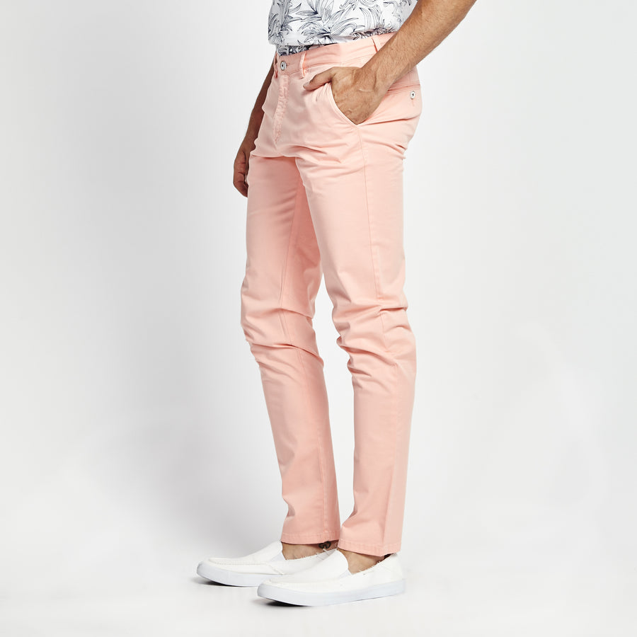 SKINNY FIT PINK POCKET PANT