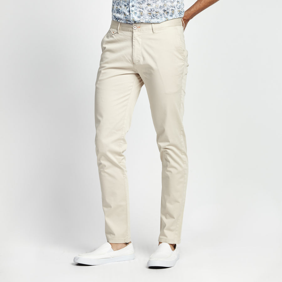 SKINNY FIT CASUAL KHAKI POCKET PANT