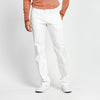 STRAIGHT FIT WHITE STITCHED POCKET PANT